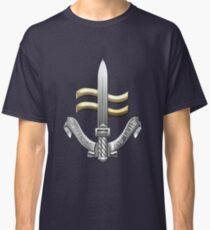 Special Boat Service - SBS Badge over Blue Velvet Classic T-Shirt
