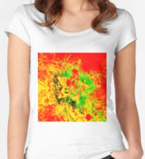 Electro Abstract Star Women's Fitted Scoop T-Shirt