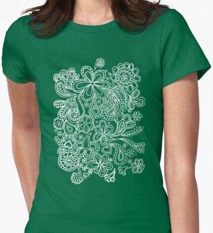 paisley white  T-Shirt