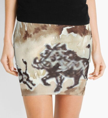An African scene Mini Skirt