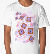 Mixture of Roses and Other Flowers Long T-Shirt