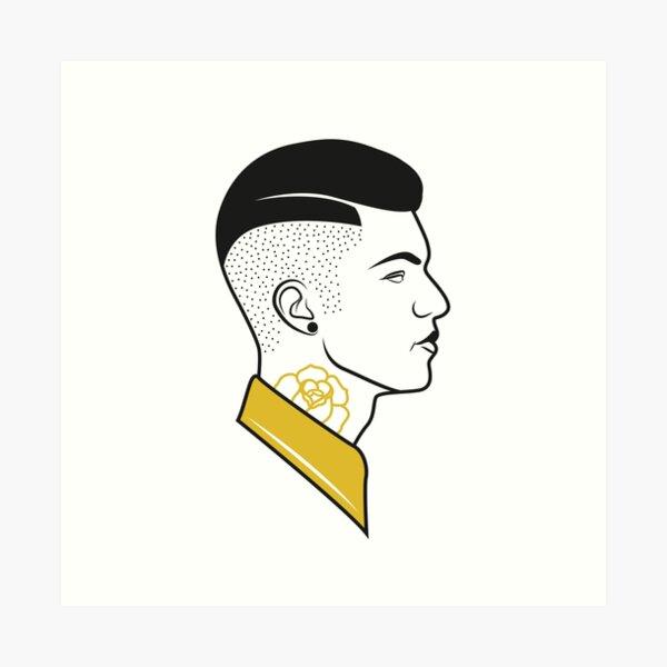 fresh from the barbershop Art Print