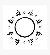 Snowflake - black Photographic Print