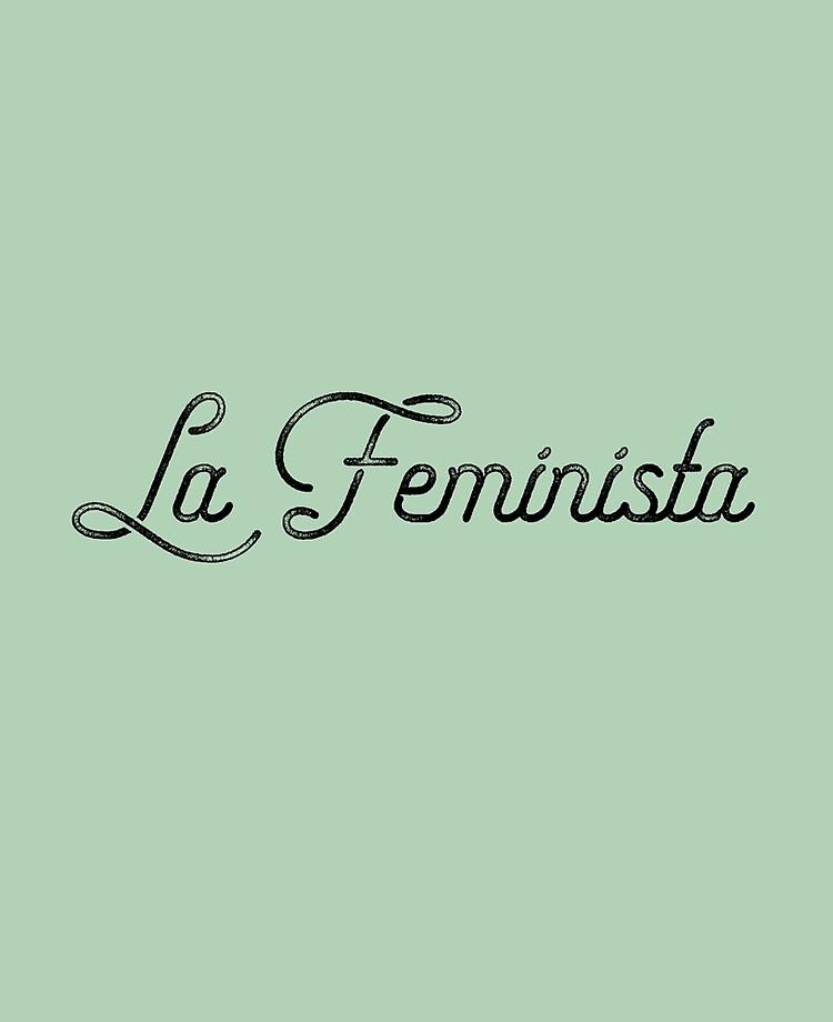 La Feminista Distressed Vintage Script Font Latina Feminist | iPad Case &  Skin