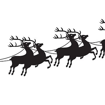 Merry Chistmas Reindeer Sleigh by morethanshirts