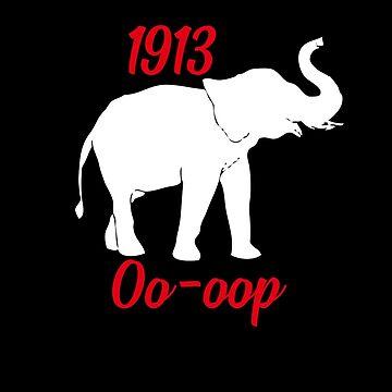 1913 Oo-oop Elephant Delta Sigma Theta by WUOdesigns