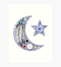 Feather Moon Art Print