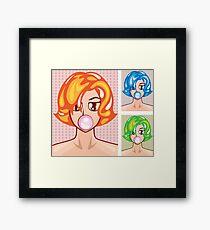 Pop Art bubble gum Framed Print