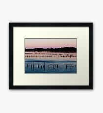 Sunset - Shades Of Pink And Blue Framed Print