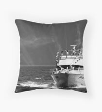 When the boat comes in Throw Pillow