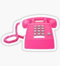 Pink Telephone Sticker