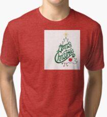 Merry Christmas Tri-blend T-Shirt