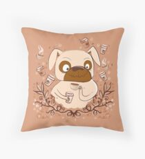 Wired up on Coffee PUG dog Throw Pillow