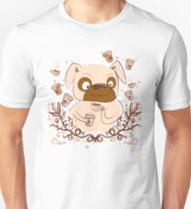 Wired up on Coffee PUG dog T-Shirt