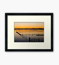 Sunset Over Oyster Farm Framed Print