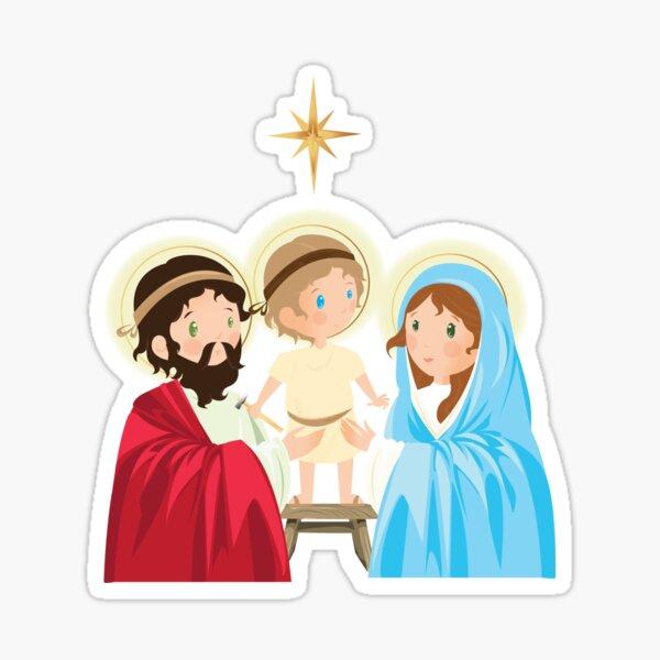 Navidad. Sagrada Familia Sticker