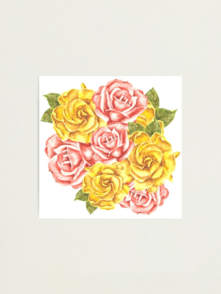 Alternate view of Pretty Watercolor Flowers Photographic Print