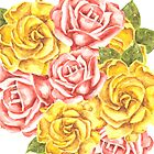 Pretty Watercolor Flowers by Erika Lancaster