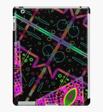 cat galaxy grid map - vaporwave 80's cat eye galaxy iPad Case/Skin