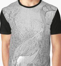 Crane Sketch Graphic T-Shirt