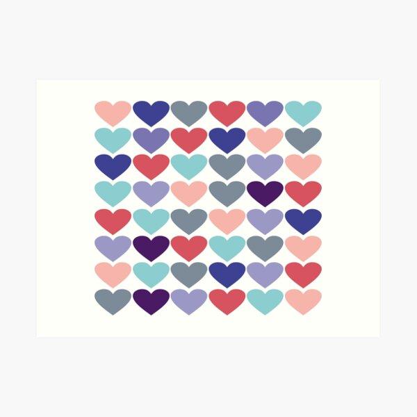 Hearts Art Deco  Art Print
