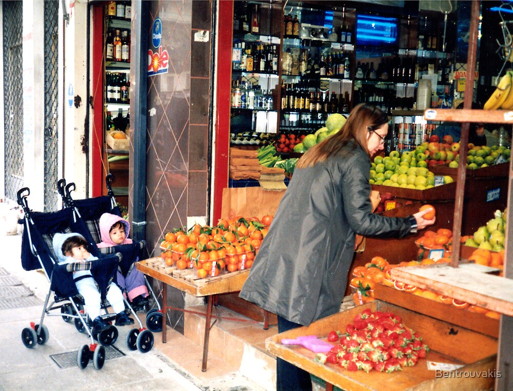 Fruit Shopping With The Twins by Bentrouvakis