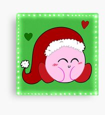 Holiday Kirby Canvas Print