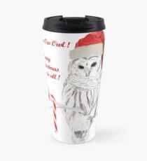 Merry Christmas - Winter Barred Owl  Travel Mug