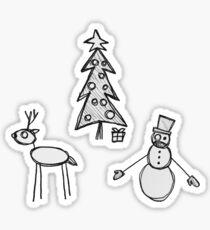 SpOoky Christmas. Sticker