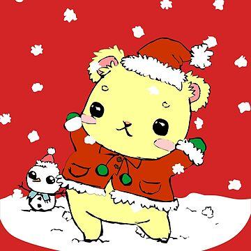 Cute Christmas Santa Claus Bear by cutecutedesigns
