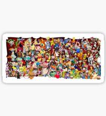 Pegatina Dibujos animados de los 90