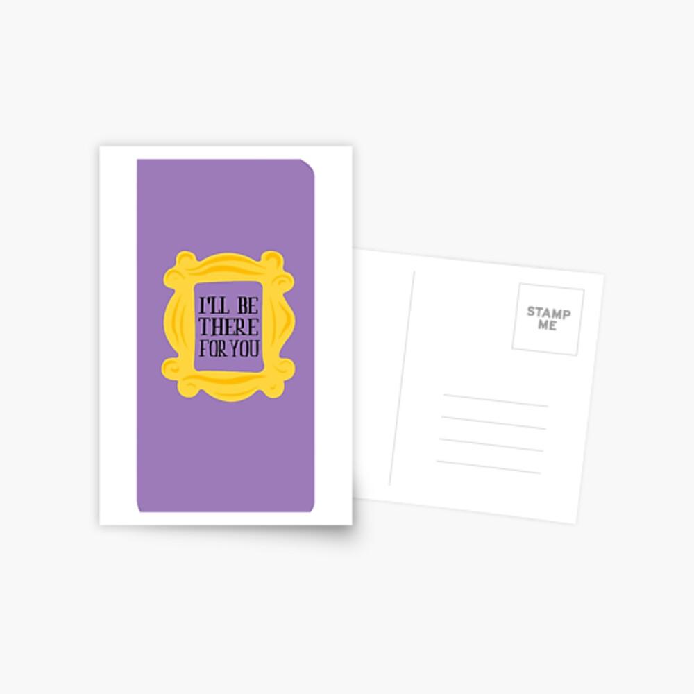 Freunde Rahmen Ich werde da sein Postkarte