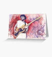 Jazz Guitarist Marcus Miller Red Greeting Card