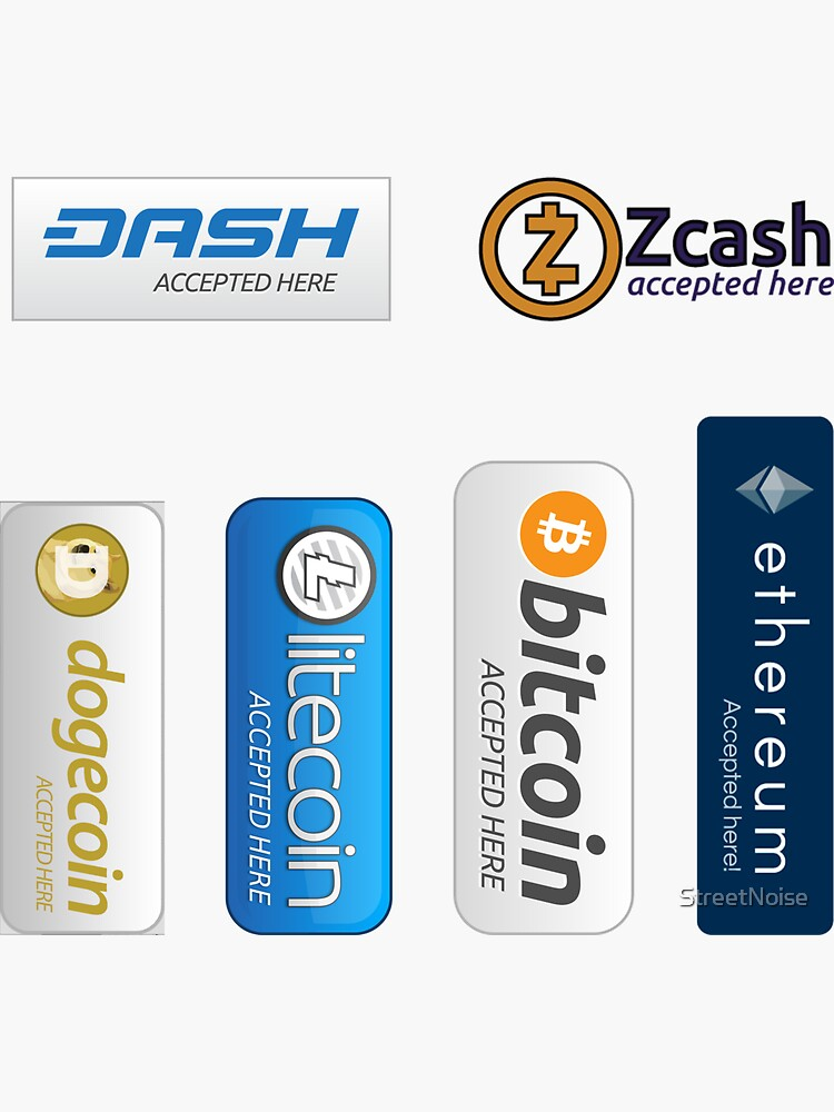 Accepted here: Bitcoin, Litecoin, Ethereum, Dogecoin, Dash, Zcash by StreetNoise