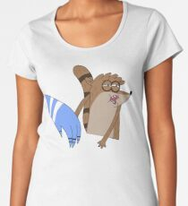 Mordecai Slapping Rigby - Funny A Regular Show Meme Women's Premium T-Shirt