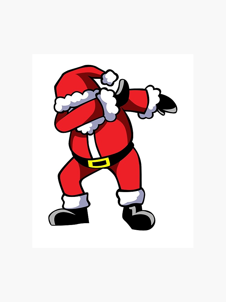 graphic regarding Santa Claus Printable Pictures identified as Dabbing Santa Claus Xmas Dab Dance Photographic Print