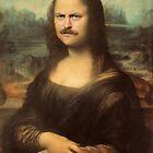 Mona Ron Swanson by joshgranovsky