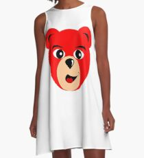 Fly Teddie - Red A-Line Dress