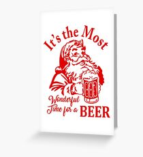 Santa Beer Greeting Card