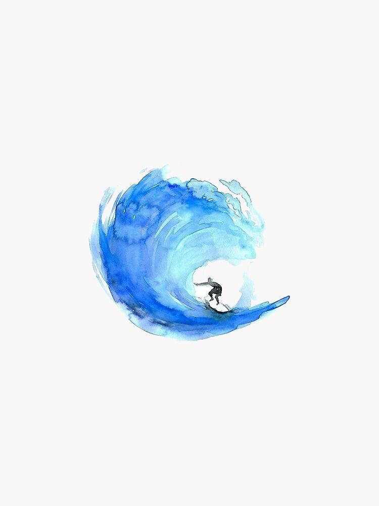 Aquarell Welle von stickersnstuff