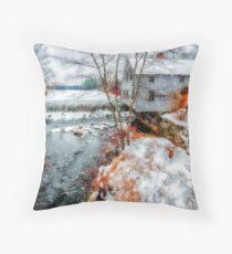 Townsend MA,Harbor Dam Throw Pillow