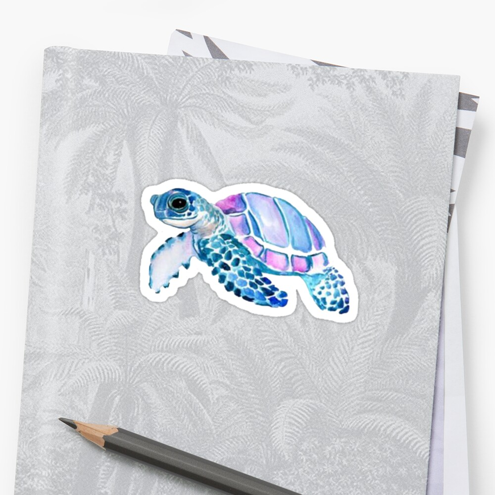 little turtle by stickersnstuff