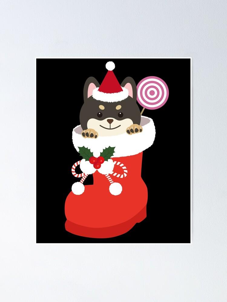 Shiba Inu Christmas Stocking