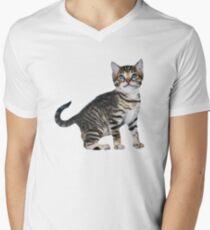 Tony Stark Kitten V-Neck Men's V-Neck T-Shirt