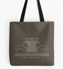 1930 Ford Model A - front stencil, white Tote Bag