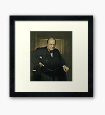 Winston Churchill, Prime Minister of UK, 1941  Framed Print