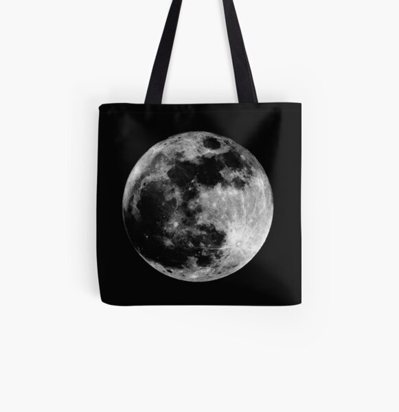 Full Moon All Over Print Tote Bag