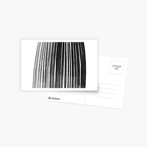 Bamboo black&white Postcard