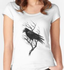 crow Women's Fitted Scoop T-Shirt