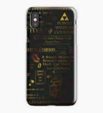 Legend of Zelda Quotes n Stuff iPhone Case/Skin
